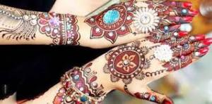 Beautiful Mehendi Design Multicolored