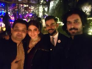 Anushka and Virat with friends