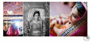 Bride image collage