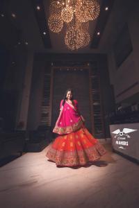 girl wearing lehanga